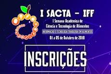 I SACTA acontece no IFF Bom Jesus entre os dias 01 e 05 de outubro.