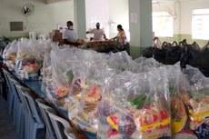 Serão entregues 50 kits de alimentos a estudantes do campus.