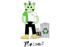Lucas Duarte, aluno do curso técnico em Meio Ambiente, foi o criador de Thomas.