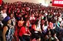 Servidores e alunos de todas as turmas prestigiaram o evento.