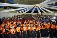 Cerimônia aconteceu na quadra do Campus Bom Jesus.