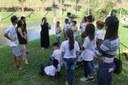 A professora Janaína Ribeiro coordenou as atividades.