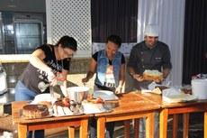 Participantes do Focal foram desafiadas a praticarem as técnicas ensinadas pelo chef Alex Kühl.