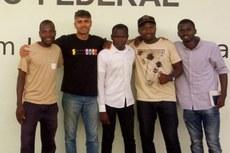 O diretor de Pesquisa, Extensão e Inovação do Campus Bom Jesus, Daniel Coelho, e os profissionais moçambicanos.