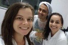 Suelen Soares (esq.) e Lohany Pedrosa (dir.) começaram os estudos no IPB nessa segunda-feira, dia 23.