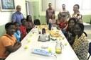 Visitantes foram recepcionadas pelos gestores do Campus Bom Jesus com um café da manhã.