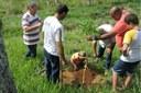 A mais recente ação do projeto realizou o plantio de 500 mudas em Rosal.