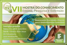 Evento terá programação gratuita e aberta ao público nos três turnos de funcionamento do Campus Bom Jesus.