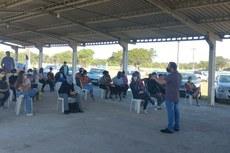 O diretor Victor Barbosa apresentou a Instituição para a comunidade.