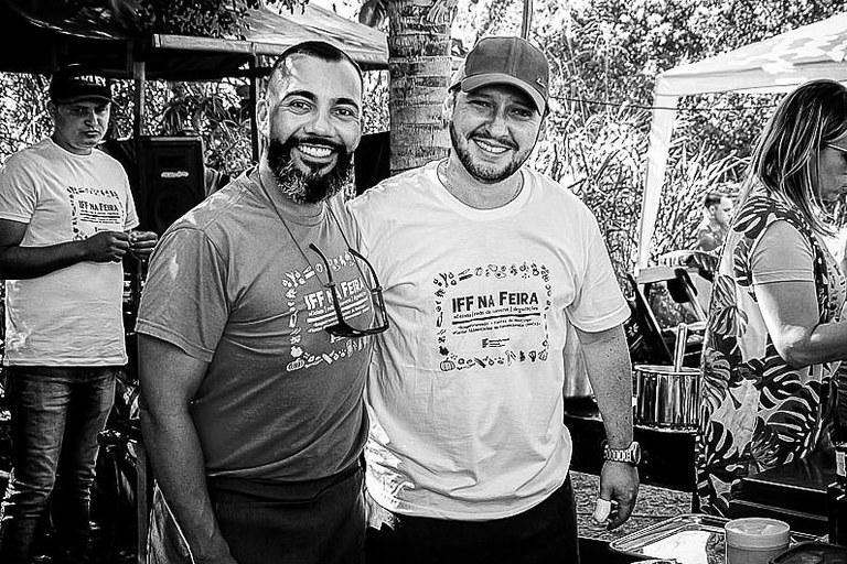 Os professores de gastronomia organizadores do evento, Wellington Santos e Gustavo Guterman