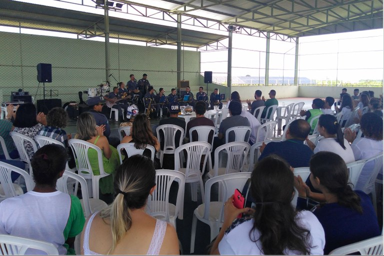 A banda Núcleo de Choro, da PM de Mato Grosso