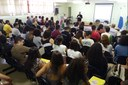 Professor Eric Lopes apresenta a palestra sobre construção científica do conhecimento