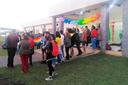 Os estudantes realizaram uma gincana no encerramento do evento.