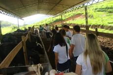 A visita fez parte de aula prática da disciplina de Zootecnia