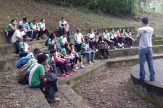 Alunos de Cambuci visitam o Parque Estadual do Desengano.