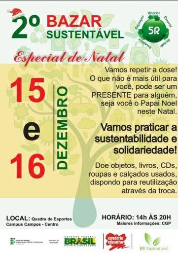 Cartaz do Bazar Sustentável