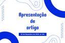 Artigo será apresentando no XLVII de Congresso Brasileiro de Educação em Engenharia