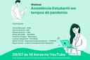 Assistência Estudantil faz webinar e vai falar sobre auxílios e saúde mental durante a pandemia
