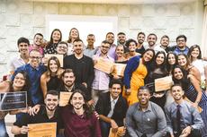Integrantes da Aurea no evento que deu posse à atual diretoria em fevereiro, antes do começo da pandemia no Brasil.Foto: Divulgação