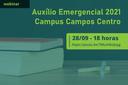Auxílio-emergencial será pago a 150 estudantes do IFF Campos Centro
