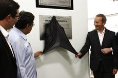 O diretor Carlos Alberto e o presidente da Enel Rio, Artur Tavares (Raphaella Cordeiro).
