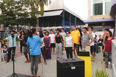 Estudantes e professores participam de umas das oficinas do Viradão Cultural (Fotos: Rakenny Barboza/Comunicação Social)