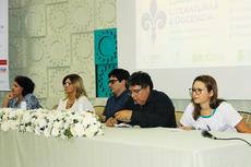 Mesa de abertura do evento, no dia 21/11 (Foto: Multimidia/Núcleo de Imagens do IFF)