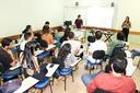 Além de professores e pedagogos, participaram estudantes de cursos de licenciatura.