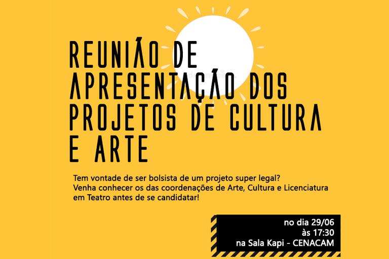 Projetos de Arte e Cultura