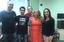 O professor Argeu (camiseta preta) e integrantes da banca
