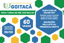 O Curso Preparatório Goitacá oferece 60 vagas no pré-vestibular