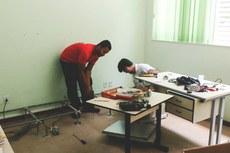 As equipes do DTIC fizeram a transferência e adaptação do novo espaço em apenas cinco dias, em janeiro (Foto: Comunicação Social do Campus)