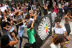 O ato mobilizou a comunidade do Campus Campos Centro.