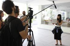A equipe de produção do vídeo gravou depoimentos no Campos Centro (Foto: Letícia Cunha)