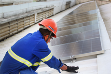 Cada painel fotovoltaico tem potencial individual de até 340 Whatts. (Foto: Antonio Barros)
