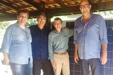 Os professores Alex Cabral, Carlos Alberto, o pesquisador da Cepel, Marcos Galdino e o professor Valter Sales.