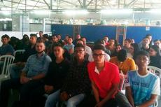 Os estudantes em visita a CM Comandos, onde fizeram um minicurso com certificação.