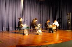 Estudantes em cena no Auditório Cristina Bastos (Rakenny Braga)