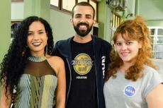 Os estudantes Tamires Salles, Adonis Teixeira e Kesia Barbosa (Foto: Antonio Barros/Comunicação Social)