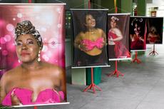 Fotos revelam a força das mulheres na luta contra o câncer de mama.(Fotos: Letícia Cunha)