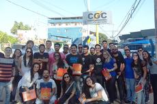 Estudantes e professores participaram da visita técnica.