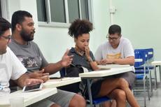 Estudantes no encontro que fecha uma etapa da pesquisa.