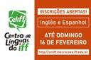 Centro de Línguas do IFF oferece 216 vagas em turmas de Inglês e Espanhol