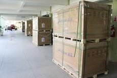 Novo lote de placas a ser instalado (Antonio Barros/Ascom)