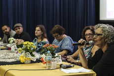 A professora aposentada do IFF, Guiomar Valdez, participou do debate (Foto: Diomarcelo Pessanha)