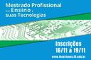 Processo seletivo do Mestrado em Ensino e suas Tecnologias