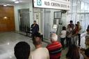 O diretor geral do campus, Carlos Alberto Henriques em momento de agradecimento.