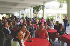 Momento de reencontro e interação no campus (Fotos: Rakenny Barboza/Comunicação Social)