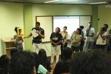 Primeira aula da nova edição do curso Faça Fácil Libras (Foto: Rakenny Braga)