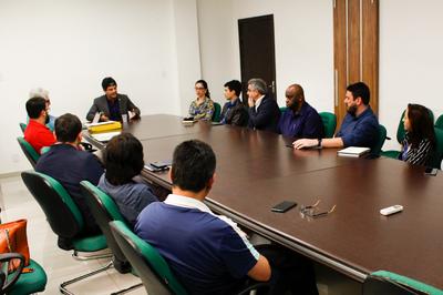 Dirigentes das universidades de Campos. (Foto: Vitor Carletti)